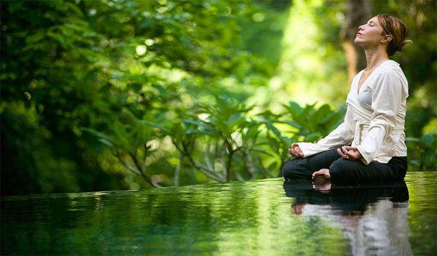 File:Meditation in a yoga asana.jpg