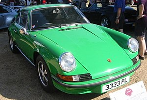 Photograph of the front of a 1973 Porsche 911 ...