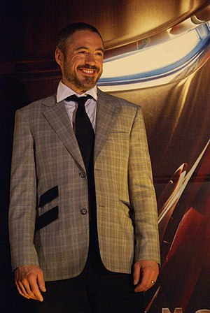 English: Actor Robert Downey Jr. promoting the...