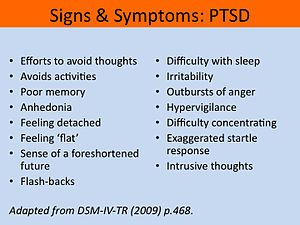 English: signs and symptoms ptsd