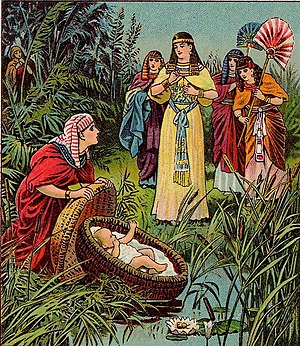English: The Childhood of Moses, as in Exodus ...