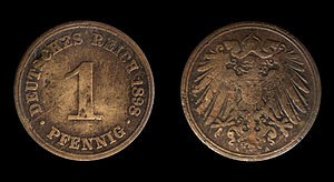Coins of the German Empire (1871-1918), 1 Pfen...