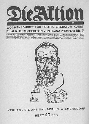 "Front cover of the German ""Die Aktion&quo..."