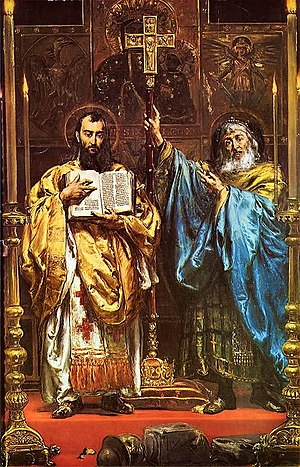 Cyril and Methodius, painting by Jan Matejko, 1885