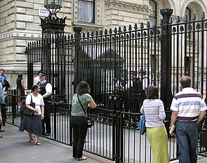 The security gates installed in 1991 as a resu...