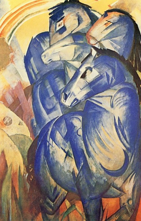 """""""The Tower of Blue Horses"""" by Franz Marc"""
