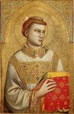 Giotto di Bondone: Den hellige Stefan (1320-25), Museo Horne, Firenze