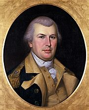 Charles Willson Peale painted a portrait of General Greene from life in 1783, which was then copied several times by C.W. Peale and his son, Rembrandt Peale.