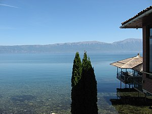 Lake_Ohrid on the Albanian side