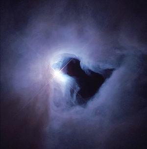 The reflection nebula NGC 1999 is brilliantly ...