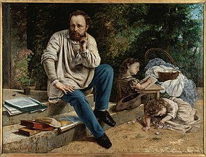 Proudhon and his children, by Gustave Courbet ...