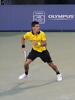 English: Novak Đoković vs Roger Federer on 201...