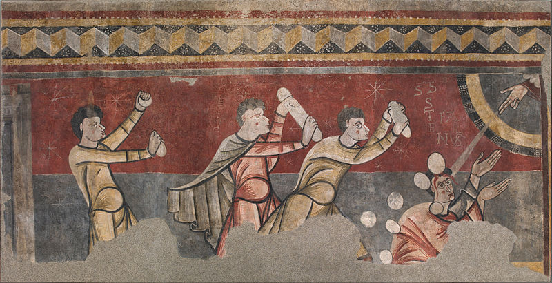 File:Stoning of Saint Stephen from Sant Joan de Boí - Google Art Project.jpg