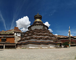 English: The worlds largest tibetan stupa