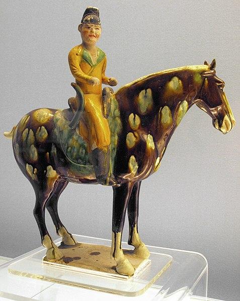 File:Tang-PolychromeGlazedPotteryFigurineOfEquestrian-ShanghaiMuseum-May27-08.jpg
