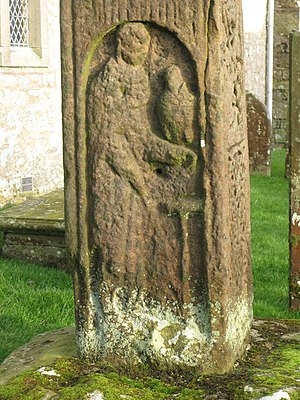 English: The 7th C Bewcastle Cross - St. John ...