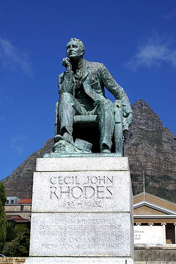 University of Cape Town - Statue of Rhodes