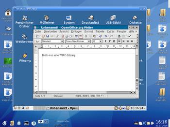 This (german) screenshot shows: KDE 3.5 (scree...