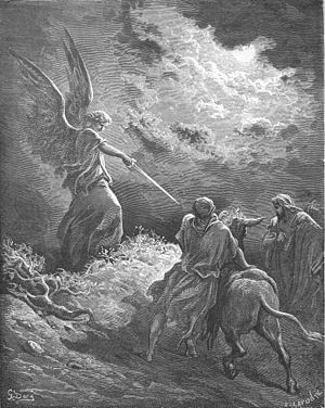 English: An Angel Appears to Balaam (Num 23:15...