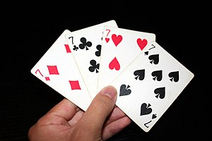 7 playing cards