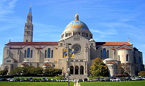 English: The Basilica of the National Shrine o...