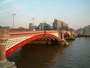 The Road and Pedestrian Blackfriars Bridge fro...