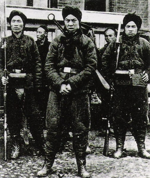 Boxer soldiers.
