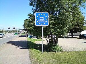 Deutsch: EU-Schild.