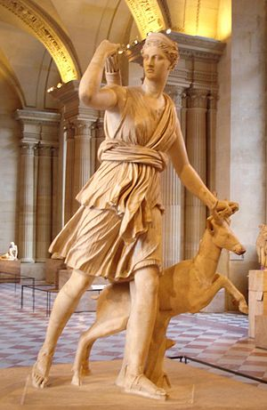 "Artemis with a hind, better known as ""Dia..."