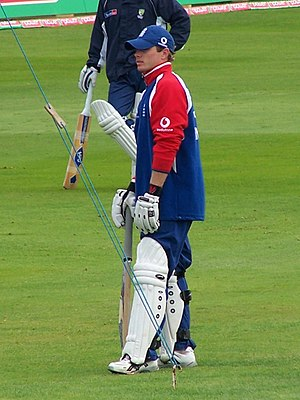 Ian Bell preparing for the 4th Ashes test 2005...