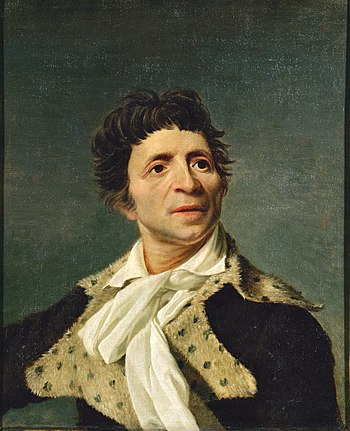Portrait of Jean-Paul Marat, now at the Carnav...