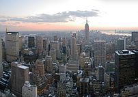 Midtown Manhattan, looking south from the top of The Rock.