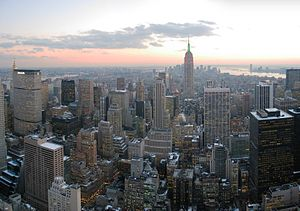 Looking south from Top of the Rock, New York C...