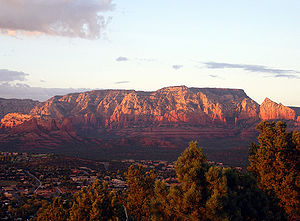 View of Sedona from the Airport Rd. lookout at...