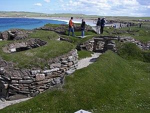 Skara Brae passageway near house 8.