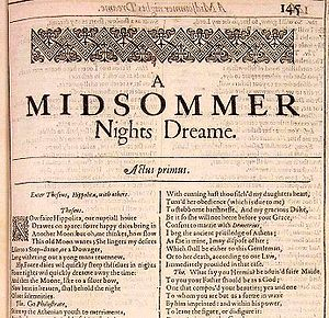 William Shakespeare, A Midsummer Night's Dream...