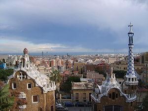 Barcelona visto desde el Parc Güell