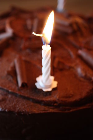English: Birthday candle, Downpatrick, County ...