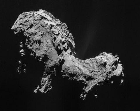 Povrch kométy.