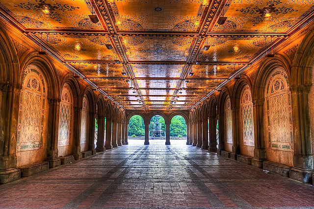 File Early Morning View Under Bethesda Terrace Central