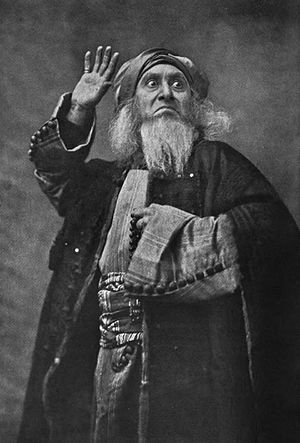 The Italian actor Ermete Novelli as Shylock in...
