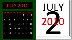 English: 2 gregorian calendar examples