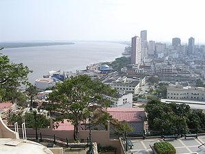 River Guayas along Guayaquil from Cerro de San...