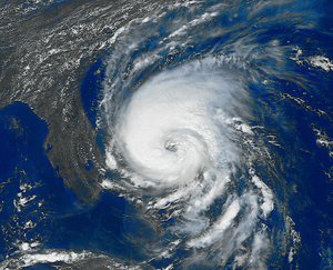 English: Hurricane Dennis on August 28, 1999. ...