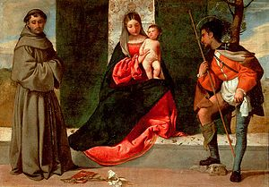 English: Giorgione: Madonna and Child with St ...