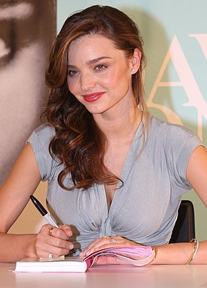 English: Miranda Kerr at a book signing.