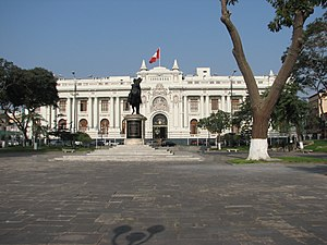 English: Parliament/Congreso in Lima, Peru.