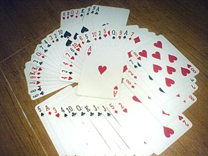 English: Typical Playing Cards. (An Anglo-Amer...