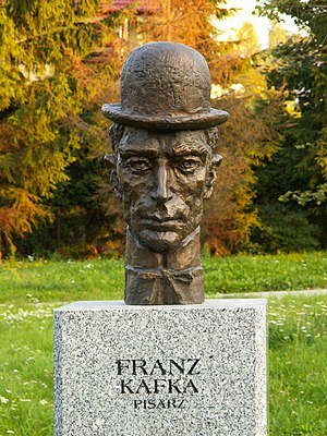 Bust of Franz Kafka in Celebrity Alley in Kiel...