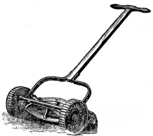 A reel lawn mower, adapted from an illustratio...
